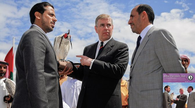 Prince Andrew and His Highness Sheikh Sultan Bin Tahnoon Al Nahyan